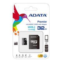 ADATA 32GB MicroSDHC UHS-I Class10 +SD adapter